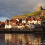 St. Mary's Church and harbour, Whitby, England