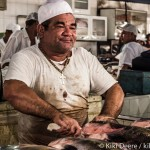 Fishmonger selling Amazonian fresh water fish at the Ver-o-Peso market, Belém, Brazil. Photo by Kiki Deere.