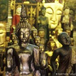 Buddha statues at Chatuchak Weekend Market in Bangkok, Thailand. Photo by Stuart Forster.
