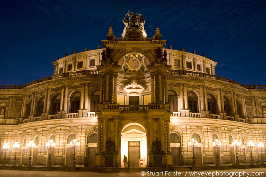 The Semperoper, which re-opened in 1985 following post-war restoration