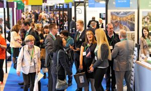 Busy aisle at the BTTS 2016, NEC Birmingham