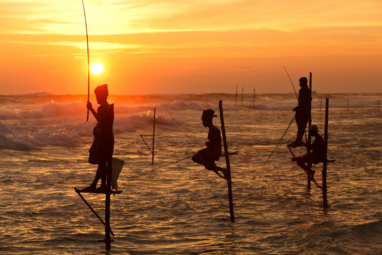 Koggala-Beach-Stilt-Fishing