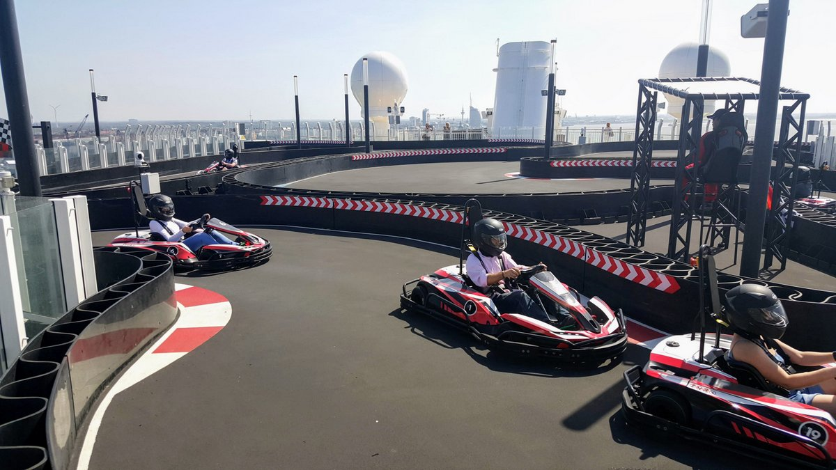 Go-Karts on Racetrack on Norwegian Bliss