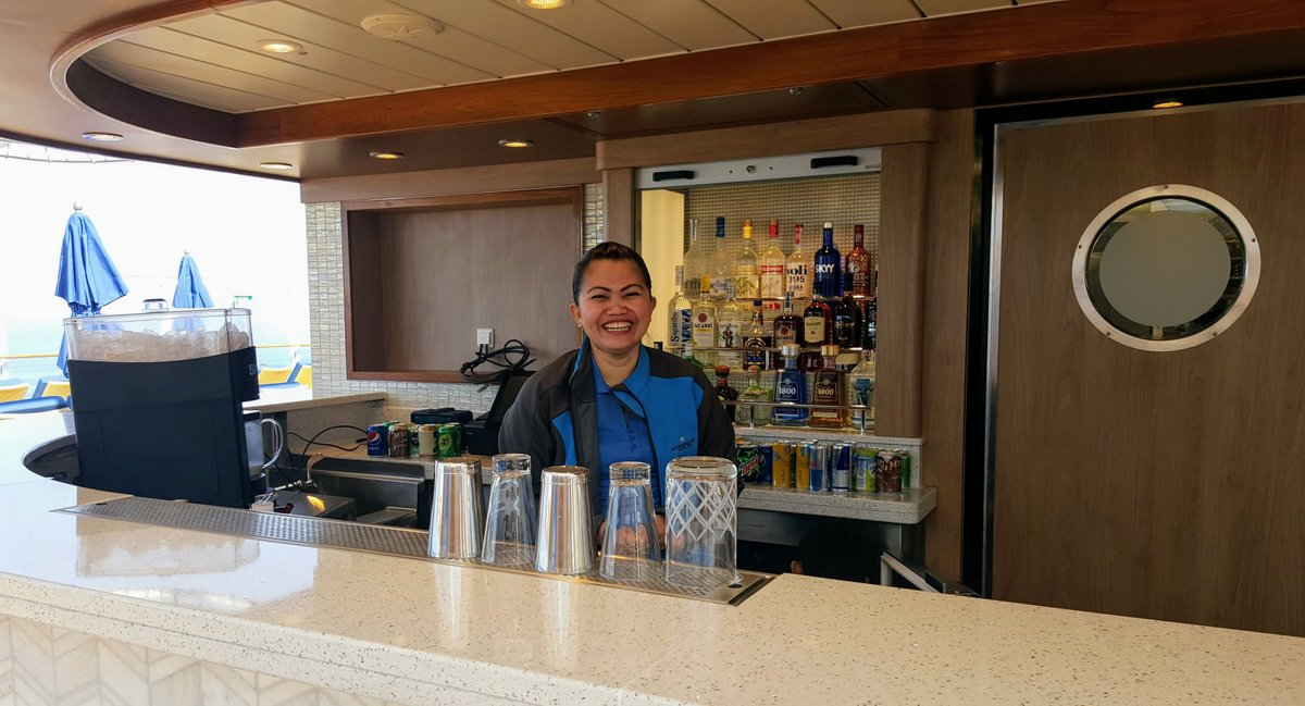 Bartender on Norwegian Bliss