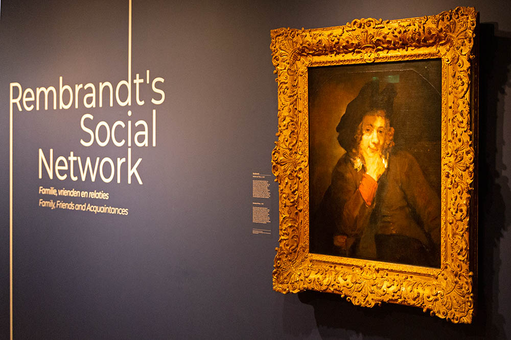 The Rembrandt's Social Network exhibition is at the Museum het Rembrandthuis in Amsterdam.