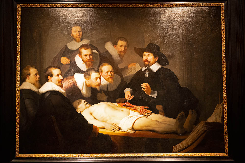 The Dutch Golden Age was characterised by the advancement of scientific and medical knowledge, something that Rembrandt captured in his painting 'The Anatomy Lesson of Dr Nicolaes Tulp', which is displayed at the Mauritshuis in The Hague.
