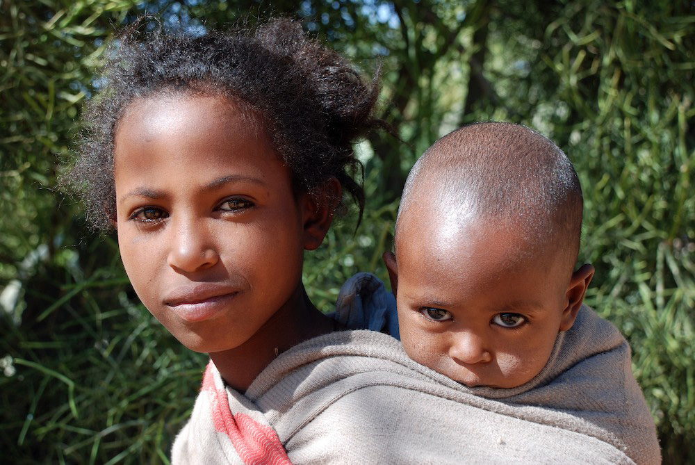 A mother and child in the Tigray Region of Ethiopia by Duncan JD Smith.