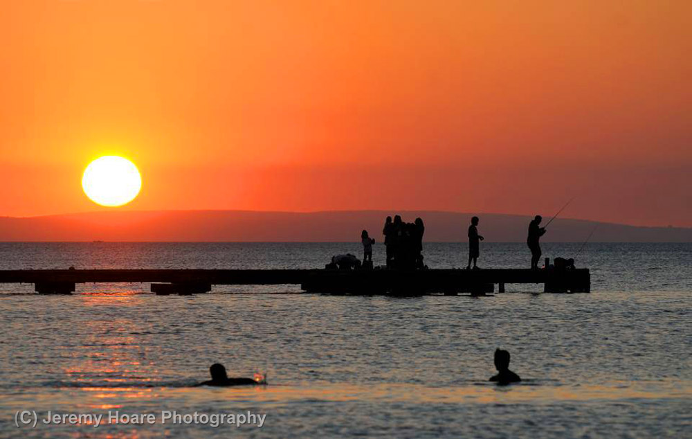 Jeremy Hoare photographed people enjoying an evening at Busselton, Western Australia