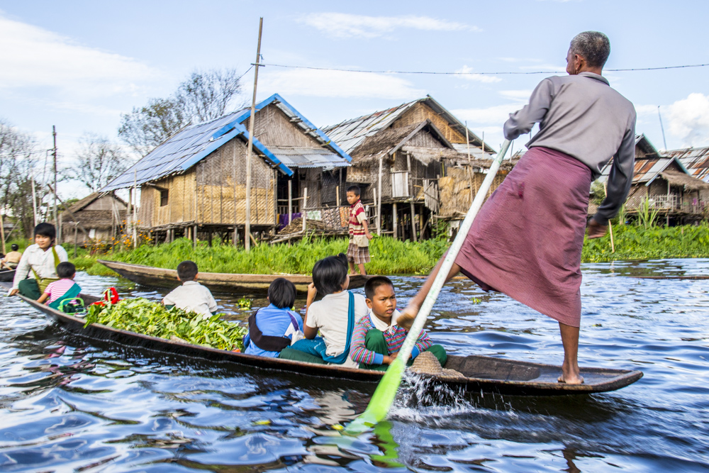Valery Collins photographed a family heading for the market on Lake Inle in Myanmar