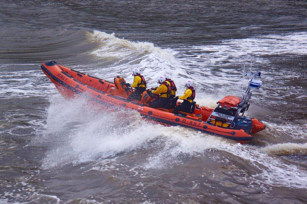Richard Villar photographed the lifeboat at Staithes Harbour, North Yorkshire