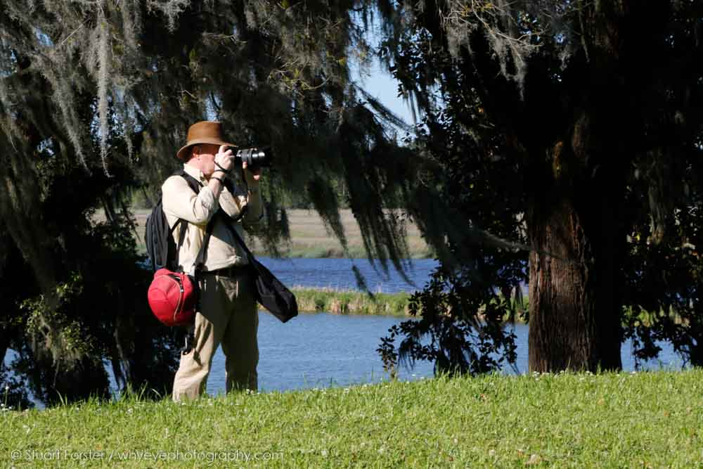 A Guild member photographs during a familiarisation trip at a British Guild of Travel Writers AGM