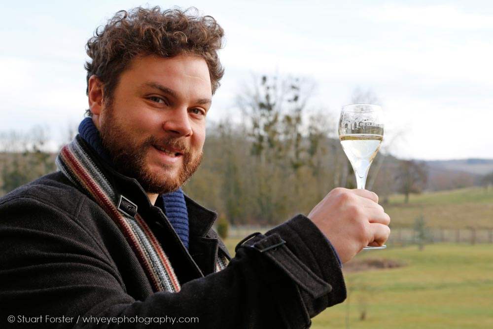 British Guild of Travel Writers' Chairperson Simon Willmore raises a glass of Champagne at the 2017 AGM in the Champagne region of France