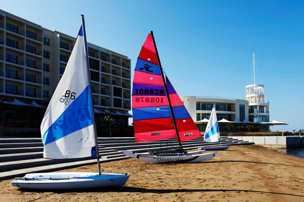 Boats at the Millennium Hotel at Mussanah in Oman, a venue for the Asian Beach Games of 2010