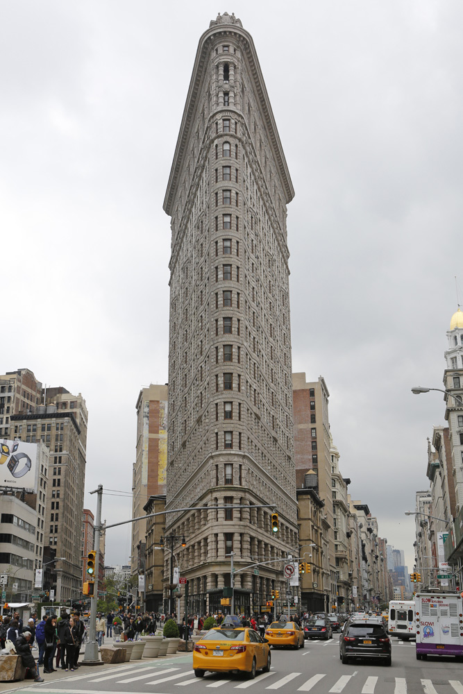 The Flatiron Building in New York City.